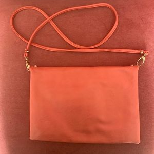 Forever 21 Bags - Forever 21 Orange w/Gold Studs Crossbody Handbag